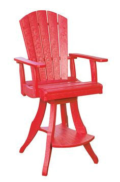 CRP Pub Swivel Armchair in Red | Barbecues Galore