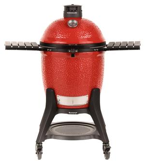 The Kamado Joe - Classic Joe III With Cart.  The perfect ceramic grill for summer time grilling. Available at Barbecues Galore: Burlington, Oakville, Etobicoke & Calgary