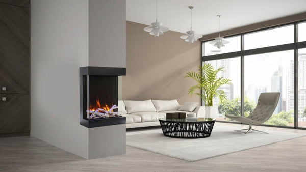 "Amantii Tru View 25"" 3-Sided Cube Electric Fireplace"