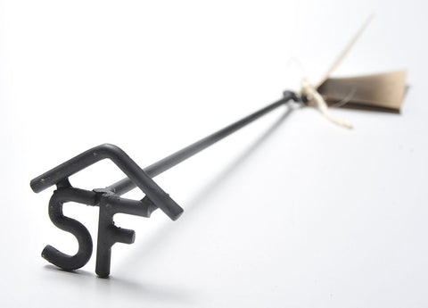 "Custom Branding Iron - ""SF"" with Rafter Above"
