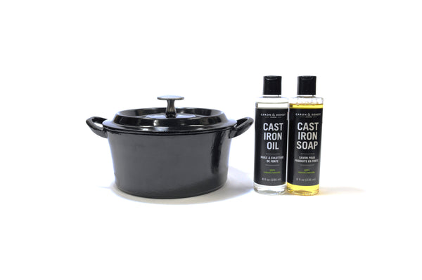 Cast Iron Pot & Care Package Gift Basket