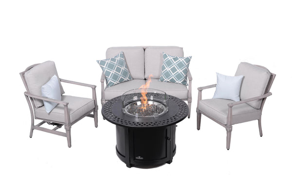 Plank & Hide Pelham Deep Seating Set | Barbecues Galore