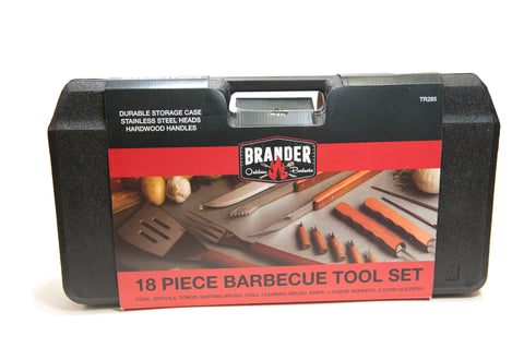 18 Piece Grilling Tool Set - With Corn Holders