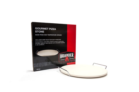 Brander Gourmet Ceramic Pizza Stone with Packaging