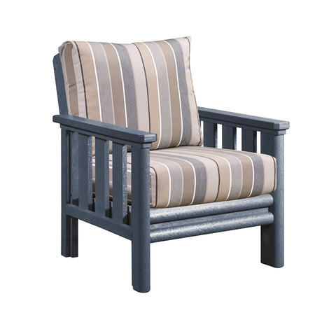 CRP Stratford Deep Seating Set Grey Frame - Milano Char Cushions | The CRP Stratford set is your perfect solution to comfortable and environmentally sustainable patio lounging this summer.  Available at Barbecues Galore: Burlington, Oakville & Etobicoke, ON, & Calgary, AB.