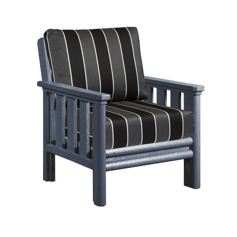 CRP Stratford Deep Seating Club Chair with Slate Grey frame and Payton Granite Cushions | The perfect solution to some comfortable and elegant patio lounging this summer.  Barbecues Galore: Burlington, Oakville, Etobicoke & Calgary