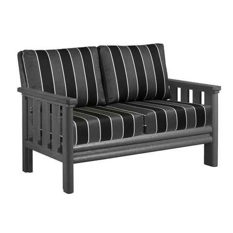 CRP Stratford Deep Seating Loveseat with Slate Grey frame and Payton Granite Cushions | The perfect solution to some comfortable and elegant patio lounging this summer.  Barbecues Galore: Burlington, Oakville, Etobicoke & Calgary