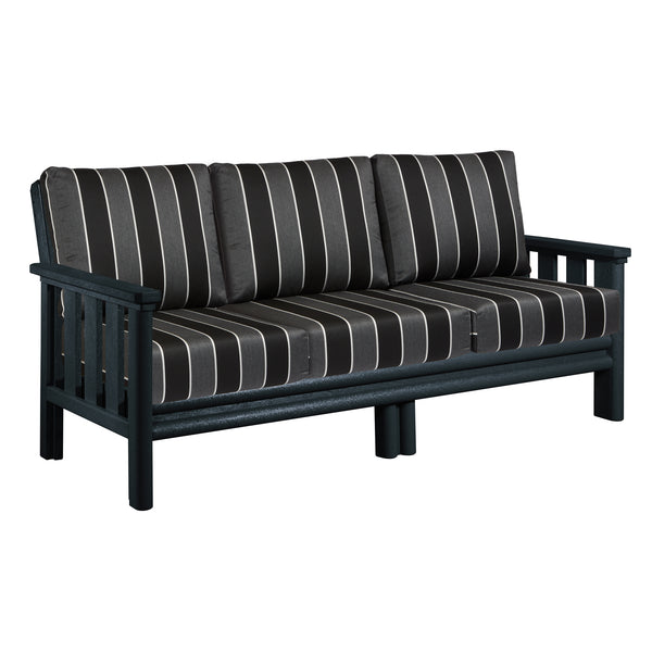 CRP Stratford Deep Seating Set Black Frame - Peyton Granite Cushions