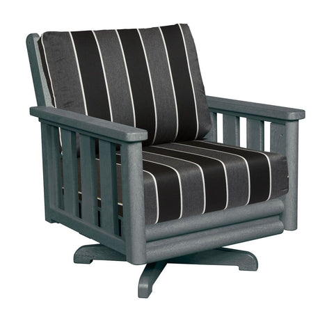 CRP Stratford Deep Seating Swivel Club Chair with Slate Grey frame and Payton Granite Cushions | The perfect solution to some comfortable and elegant patio lounging this summer.  Barbecues Galore: Burlington, Oakville, Etobicoke & Calgary