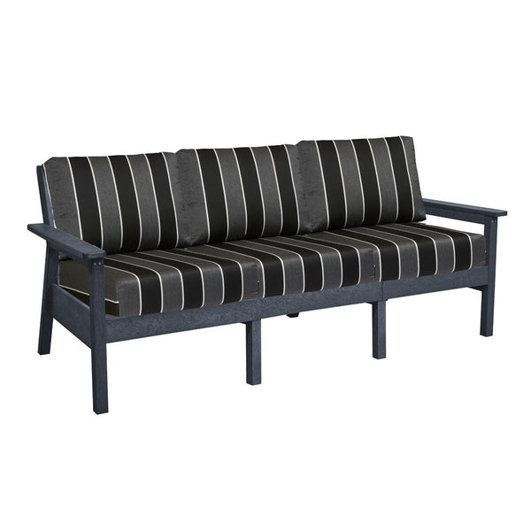 CRP Tofino Deep Seating Slate Grey Sofa Set - Peyton Granite Cushions