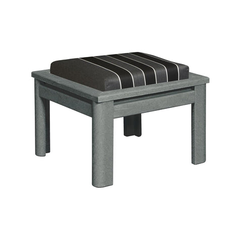 CRP Stratford Deep Seating Small Ottoman with Slate Grey frame and Payton Granite Cushions | The perfect solution to some comfortable and elegant patio lounging this summer.  Barbecues Galore: Burlington, Oakville, Etobicoke & Calgary