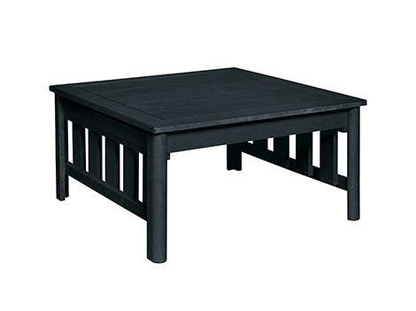 "Stratford 36"" Square Cocktail Table - Black"