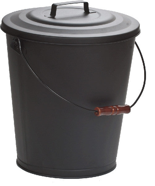 DAGAN 5 GALLON BLACK STEEL ASH BUCKET