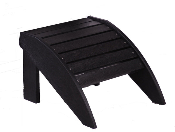 CRP Plastic Footstool - Black | The quick and easy solution to comfortable Adirondack lounging this summer.  Available at Barbecues Galore: Burlington, Oakville & Etobicoke, ON & Calgary, AB