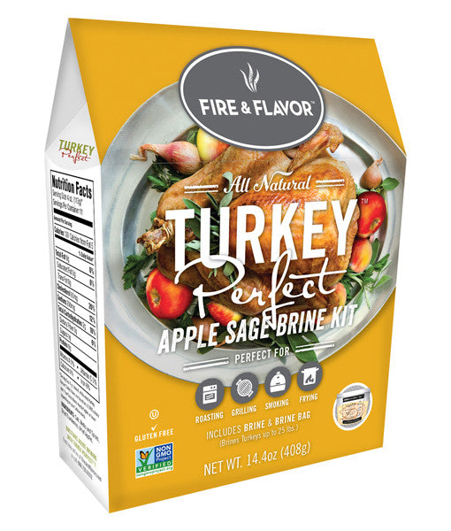 FFB139 Fire & Flavor Apple Sage Turkey Brine Kit