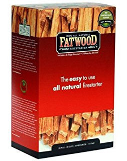 Fatwood All-Natural Firelighter Sticks - 2 lbs Box | Barbecues Galore