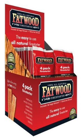 Fatwood All-Natural Firelighter Sticks - 4 Pack | Barbecues Galore
