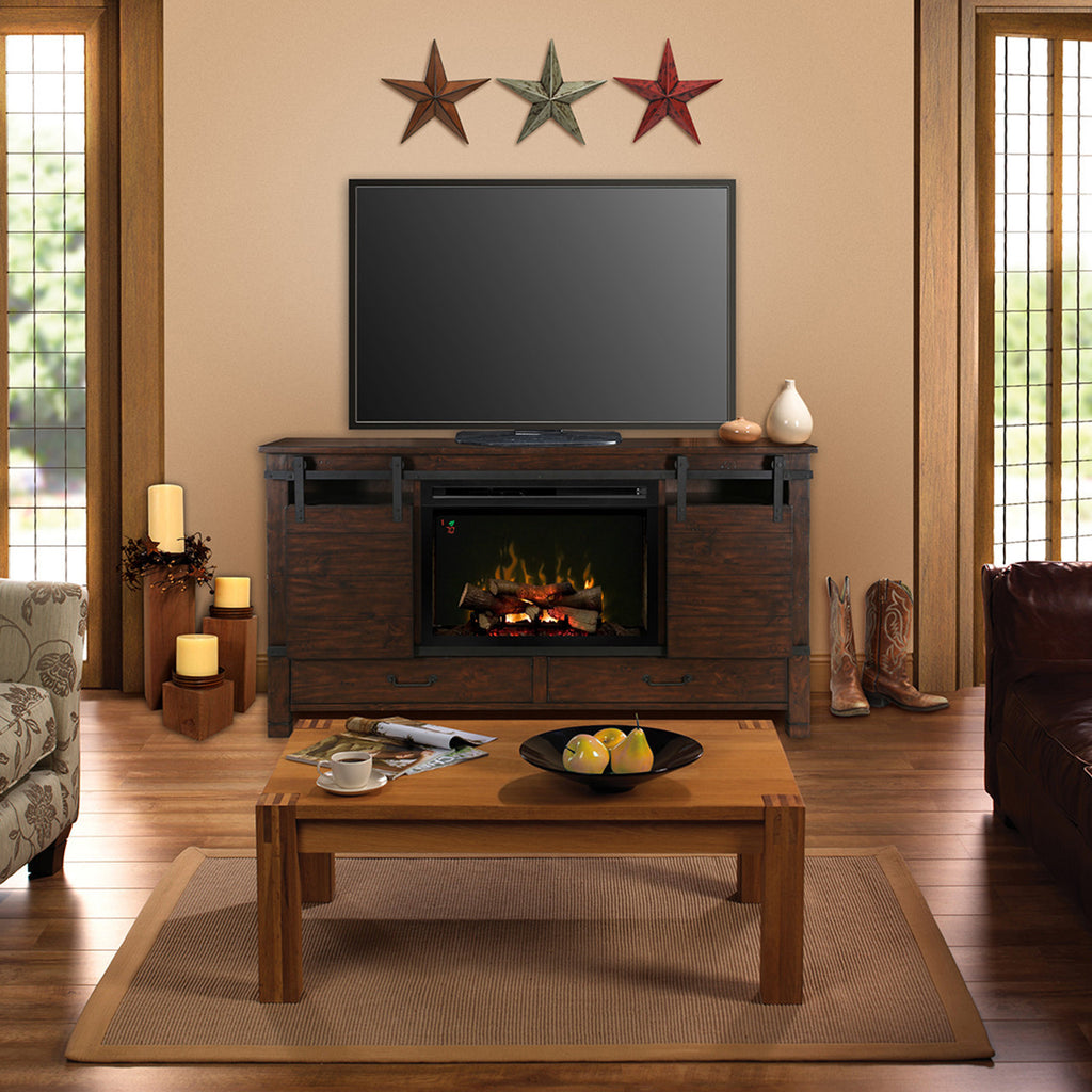 claremont media fireplace cherry watch convertible electric