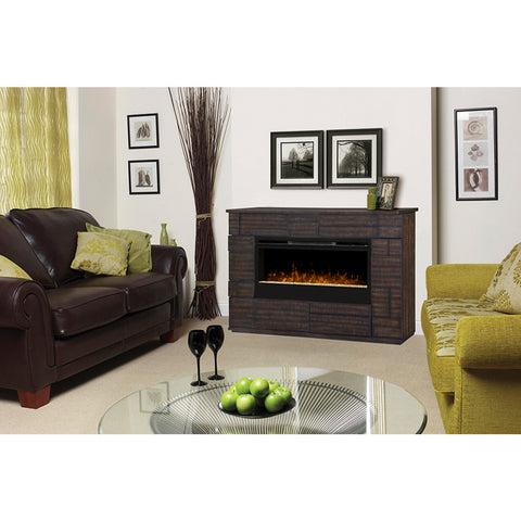 Dimplex Markus Electric Fireplace Mantel Glass Media Firebed Lifestyle