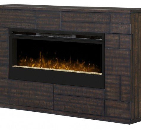 Dimplex Markus Electric Fireplace Mantel Glass Media Firebed