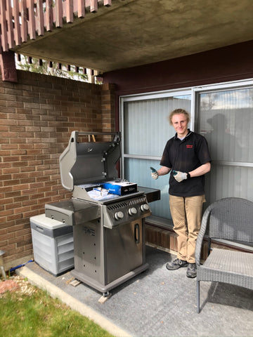 Our BBQ Butler team setting up the fantastic Napoleon Rogue XT425 | Barbecues Galore: Burlington, Oakville & Etobicoke, ON and Calgary, AB.