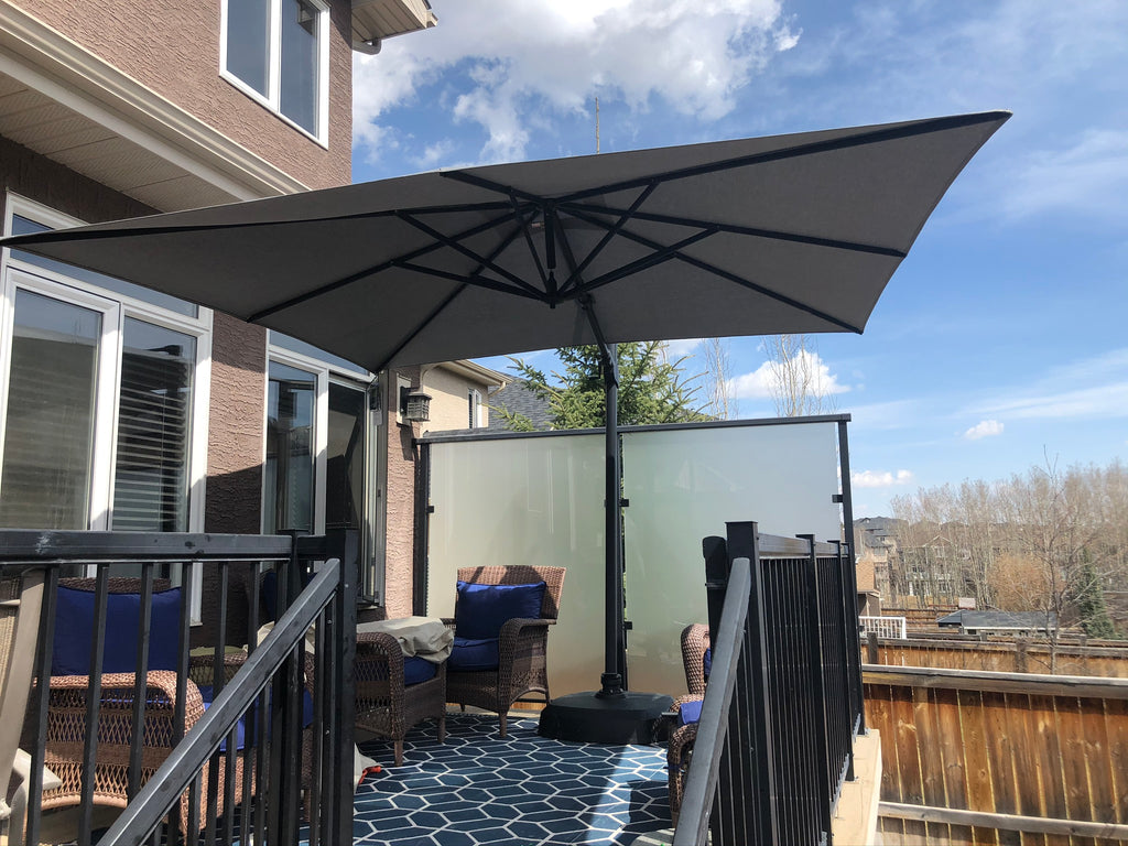Treasure Garden 10 Ft Square Premium Cantilever Umbrella