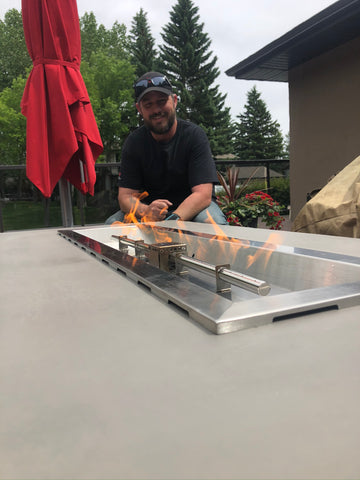 Johnson Concrete Fire Table