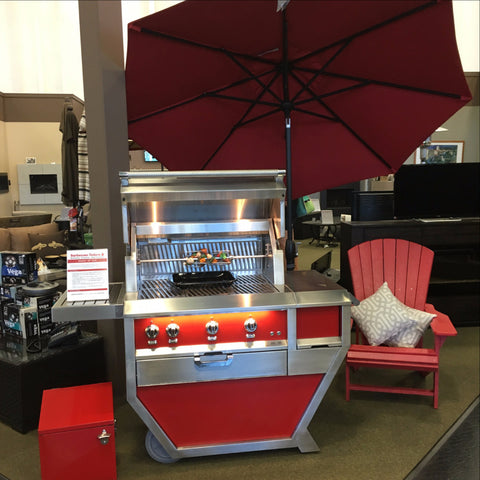 "Hestan 36"" in Matador Red Grill 