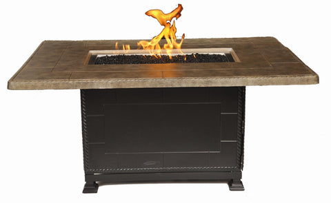 "Gensun Paradise 56"" x 36"" Rectangular Fire Gas Table"