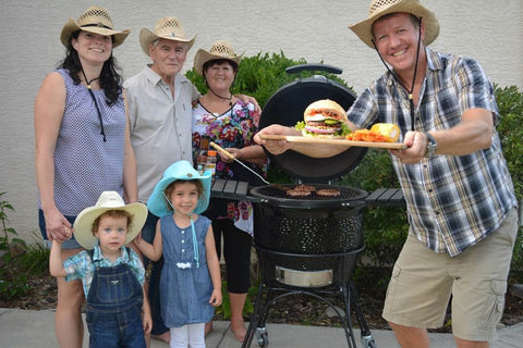 KJ23BH Best Burger Contest Entry 2016 family in western hats