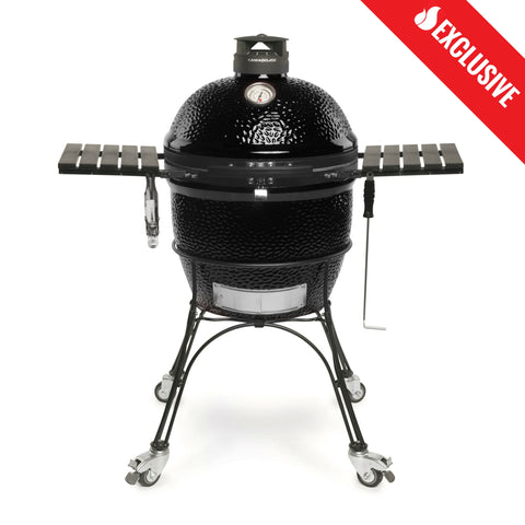 Kamado Joe Classic Joe II - Black (Exclusive) | An exclusive ceramic kamado grill to make your neighbors jealous this summer. Available at Barbecues Galore: Burlington, Oakville, Etobicoke & Calgary