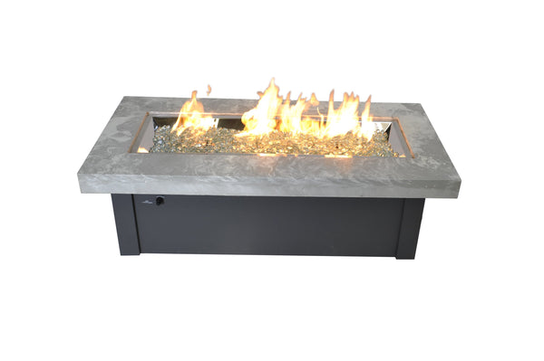 Outdoor Great Room Key Largo Fire Table - White Onyx
