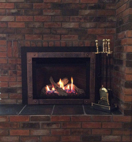 Valro Legend G3.5 Gas Insert Fireplace in Customer Home Calgary Alberta