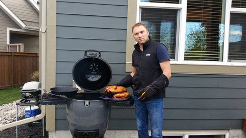 Marcel Adam and his Broil King Keg 5000