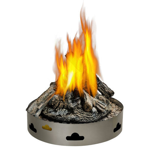 Napoleon Patio Flame Round Firepit with Log Set