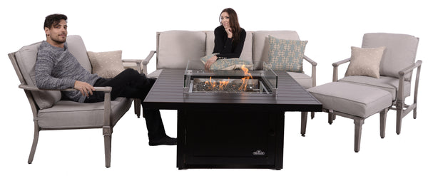 "Napoleon St Tropez 48"" Square Gas Fire Table"