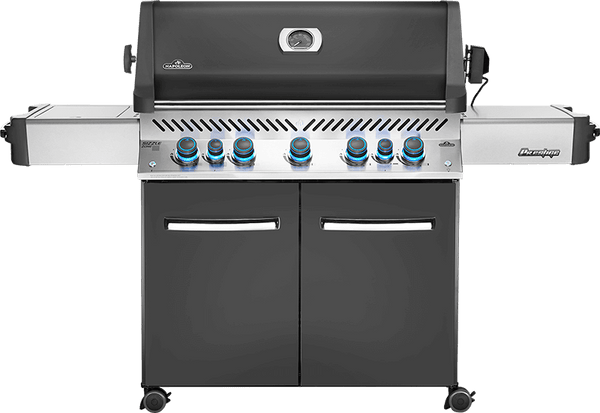 Napoleon Prestige P665RSIB Ambiance Edition - Propane | The perfect bbq for you and your whole neighbourhood in a charcoal grey colour that's exclusive to Barbecues Galore | Calgary, AB and Burlington, Oakville and Etobicoke, ON