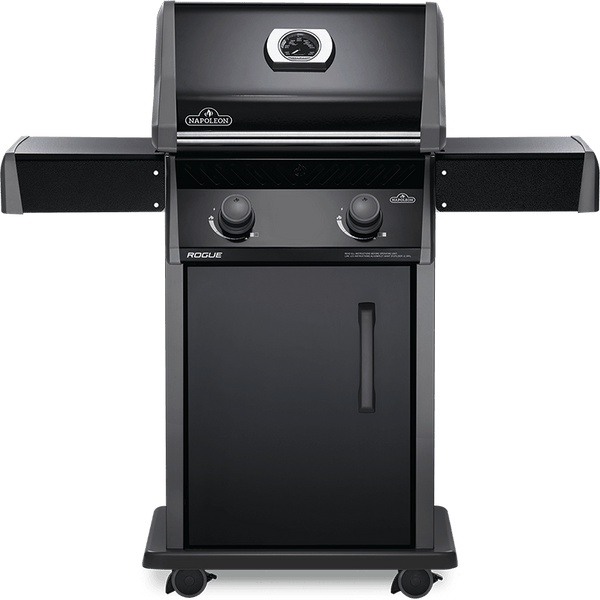 Napoleon Rogue R365 – Propane | A fully black-on-black design, sleek and ready for summer grilling. Perfect for tight balconies and small families | Check it out at Barbecues Galore at our two locations in Calgary, Alberta or our three Ontario locations: Burlington, Oakville and Etobicoke