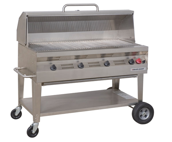 "Silver Giant 48"" Commercial Barbecue – Propane"