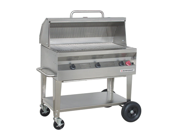 "Silver Giant 36"" Commercial Barbecue – Propane"