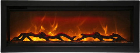 "Amantii Symmetry Series 42"" Built-In Electric Fireplace l Barbecues Galore"