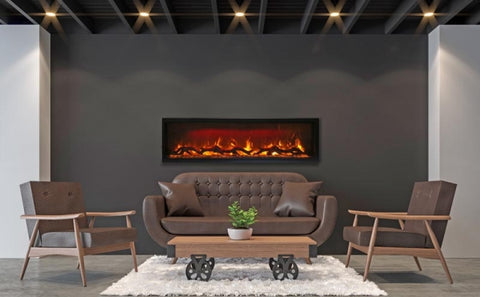 "Amantii Symmetry Series 60"" Built-In Electric Fireplace l Barbecues Galore"