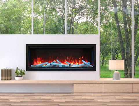 "Amantii Symmetry Series 60"" Extra Tall Built-In Electric Fireplace l Barbecues Galore"