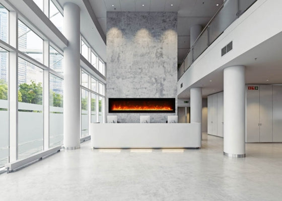 "Amantii Symmetry B Series 74"" Built-In Electric Fireplace 