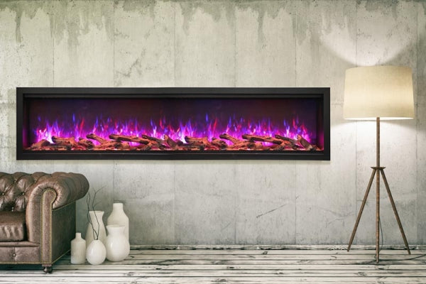 "Amantii Symmetry Series 88"" Extra Tall Built-In Electric Fireplace l Barbecues Galore"