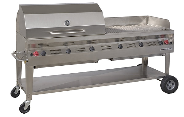"Silver Giant 72"" Commercial Barbecue – Propane"