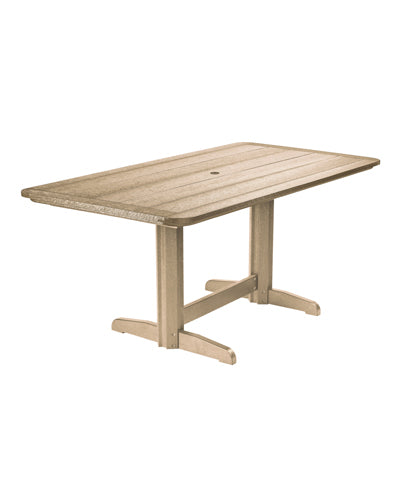 "CRP 72"" Rectangular Double Pedestal Dining Table"