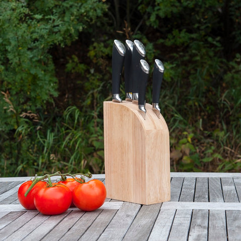 Brander Grilling Knife Set In Wood Block