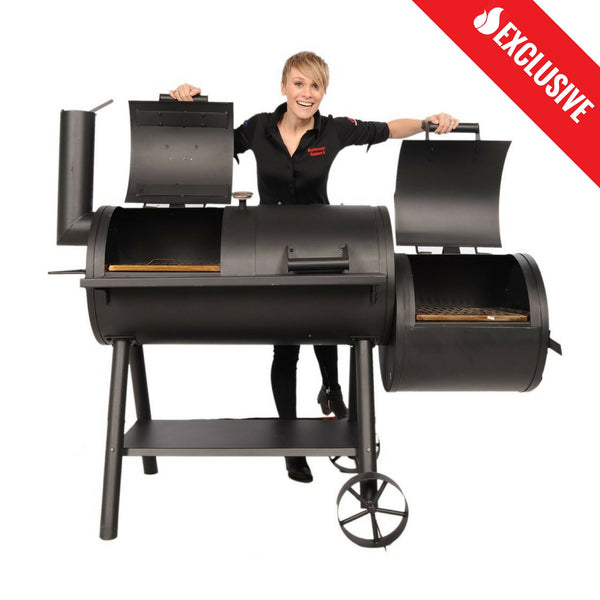 Brander Charcoal Smoker with Offset Firebox