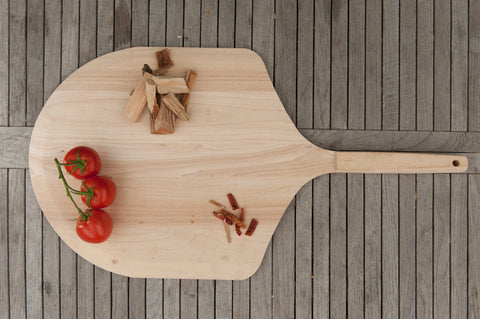 Brander Traditional Wooden Pizza Peel Outside Lifestyle